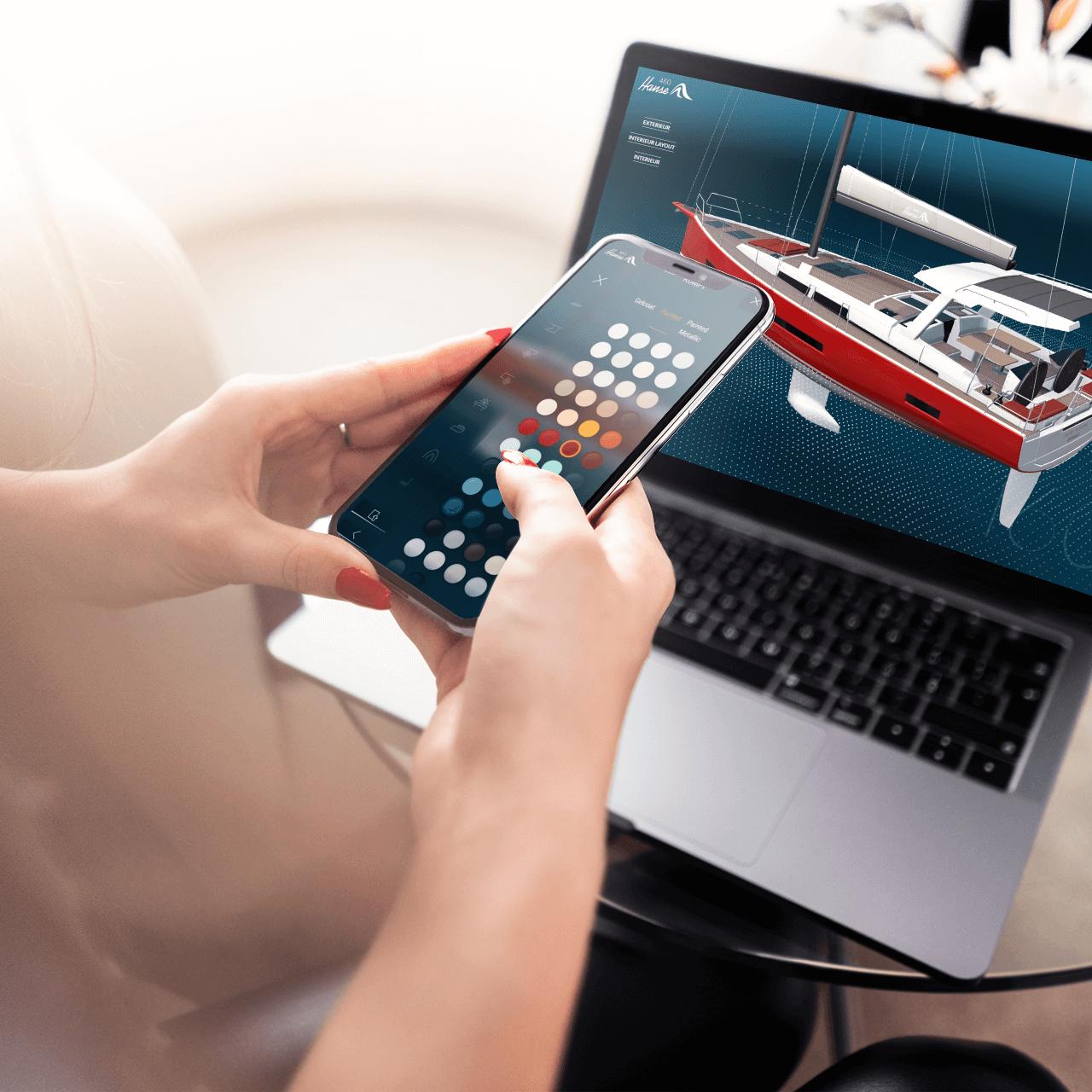 Wie gestaltet man einen intuitiv bedienbaren 3D-Konfigurator für den Yachtmarkt?